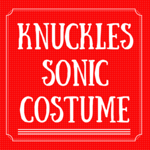 Knuckles Sonic the Hedgehog Costume